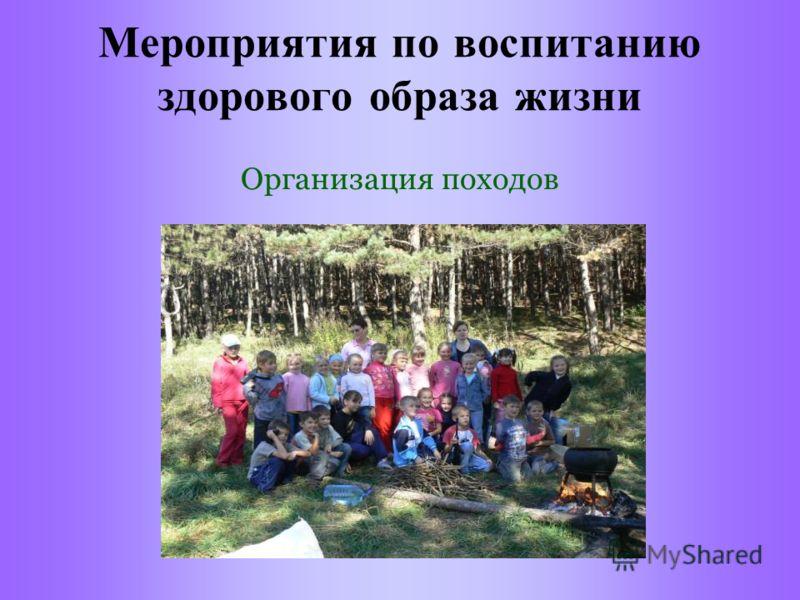 Мероприятия по воспитанию здорового образа жизни Организация походов