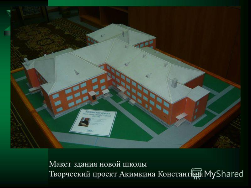 Макет здания новой школы Творческий проект Акимкина Константина