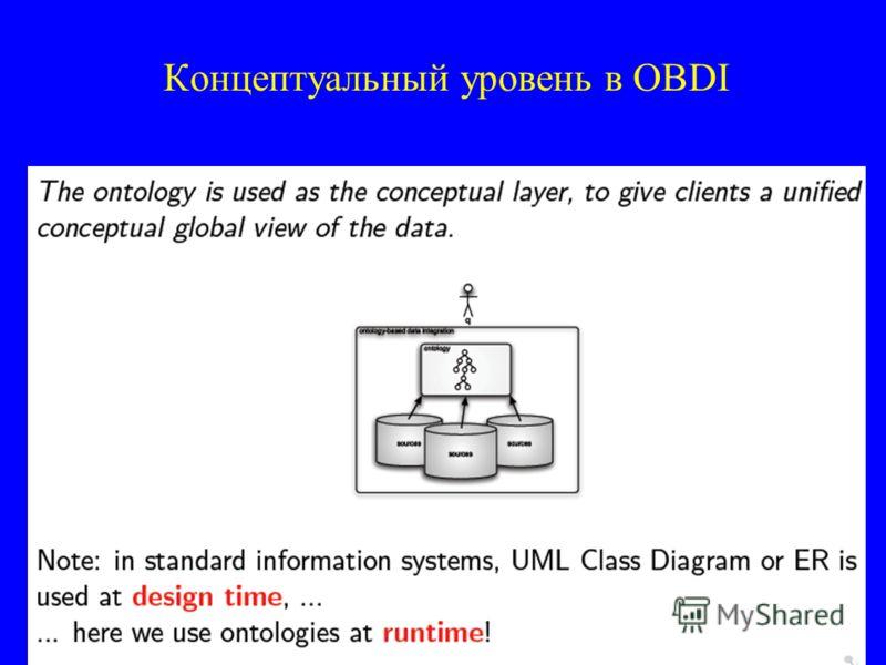 Концептуальный уровень в OBDI