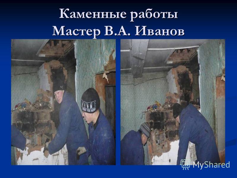 Каменные работы Мастер В.А. Иванов