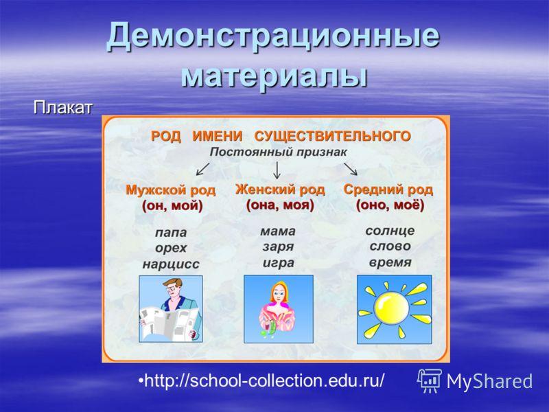 Демонстрационные материалы Плакат http://school-collection.edu.ru/