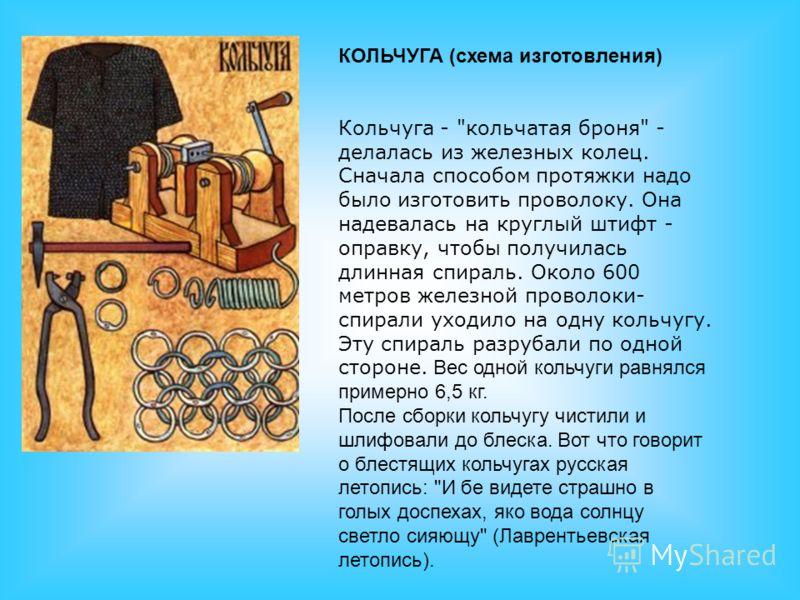 КОЛЬЧУГА (схема изготовления) КОЛЬЧУГА (схема изготовления) Кольчуга -