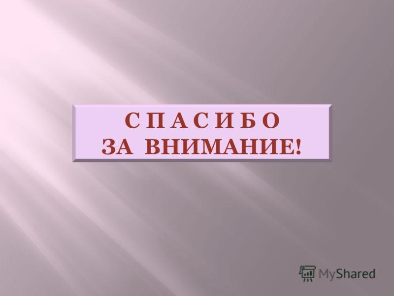 С П А С И Б О ЗА ВНИМАНИЕ!