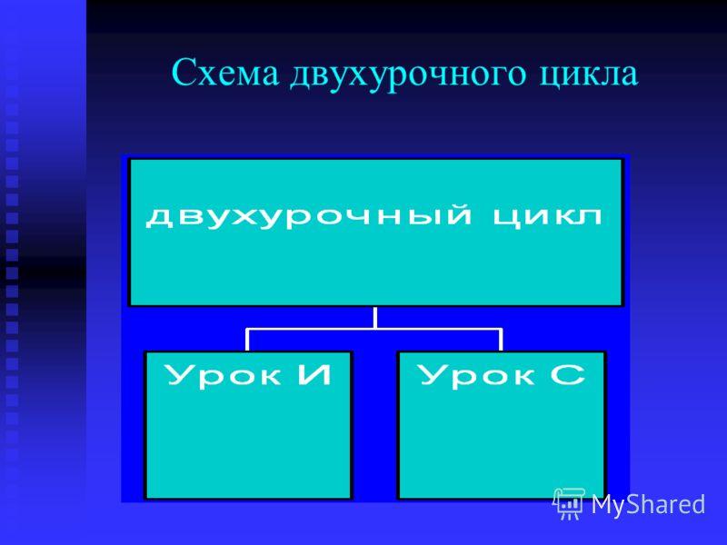 Схема двухурочного цикла
