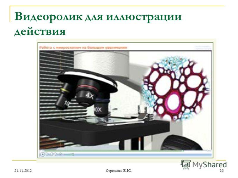 Видеоролик для иллюстрации действия 21.11.201235 Стрюкова Е.Ю.