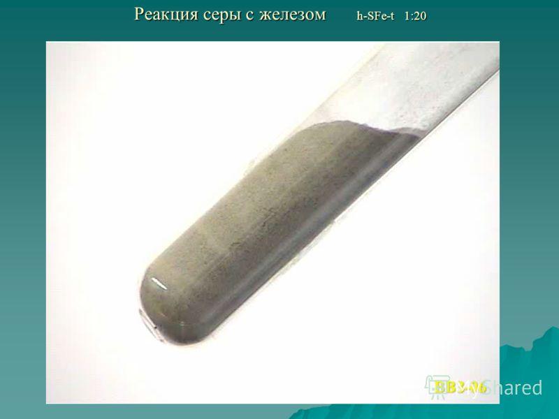 Реакция серы с железом h-SFe-t 1:20