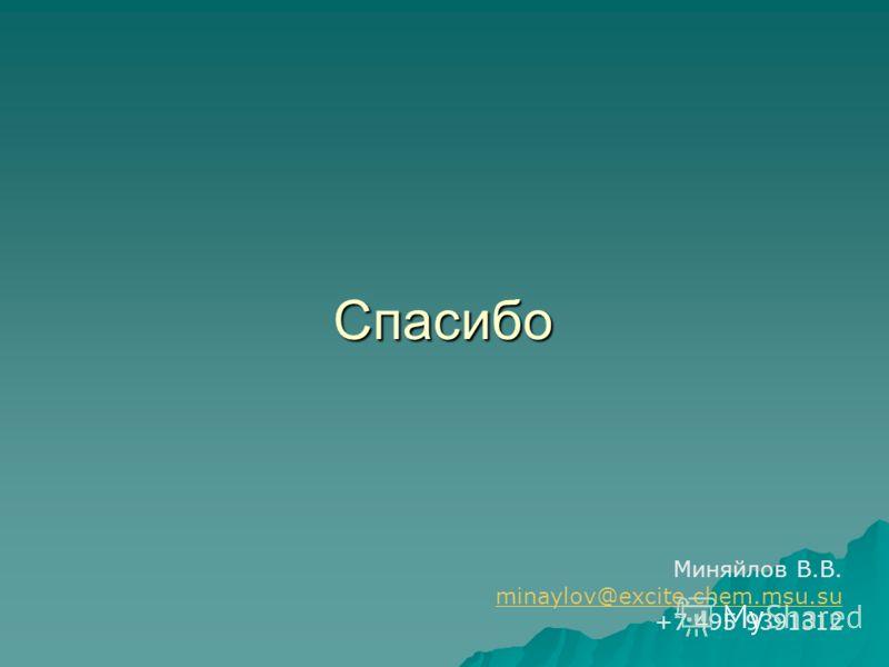 Спасибо Миняйлов В.В. minaylov@excite.chem.msu.su +7 495 9391312
