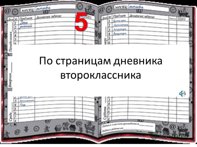 По страницам дневника второклассника