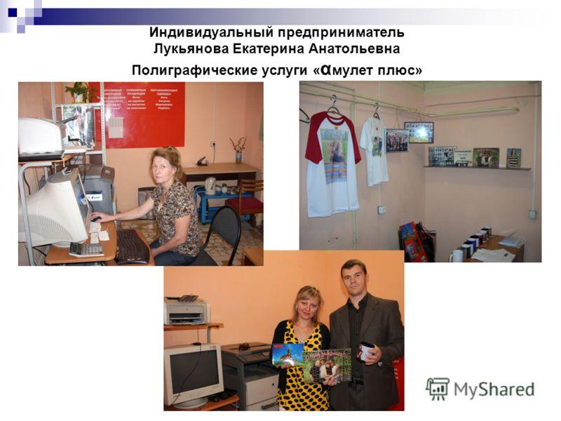 Индивидуальный предприниматель Лукьянова Екатерина Анатольевна Полиграфические услуги « α мулет плюс»