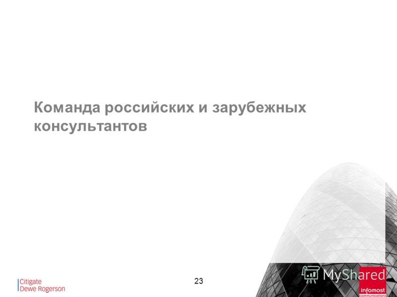 23 Команда российских и зарубежных консультантов