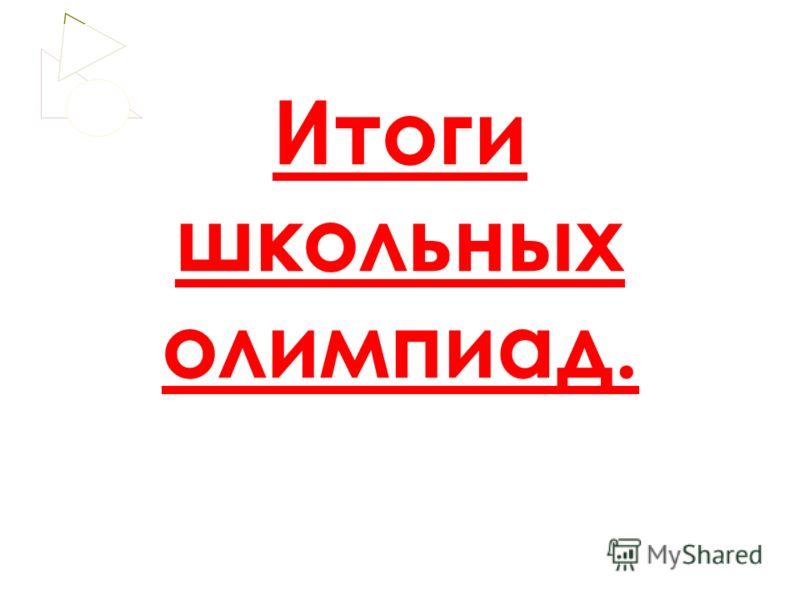 Итоги школьных олимпиад.