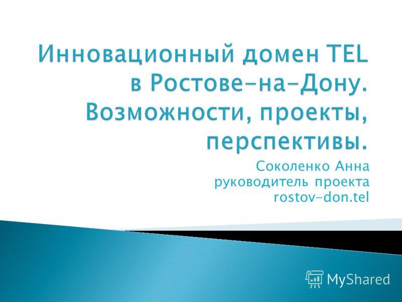 Соколенко Анна руководитель проекта rostov-don.tel