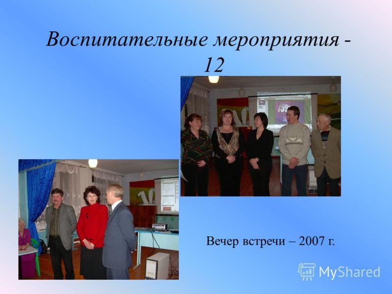 Воспитательные мероприятия - 12 Вечер встречи – 2007 г.