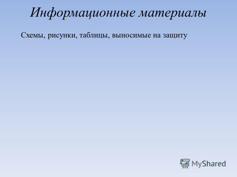 Информационные материалы Схемы