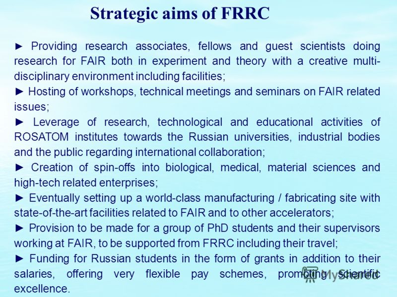 Providing research associates, fellows and guest scientists doing research for FAIR both in experiment and theory with a creative multi- disciplinary environment including facilities; Hosting of workshops, technical meetings and seminars on FAIR rela