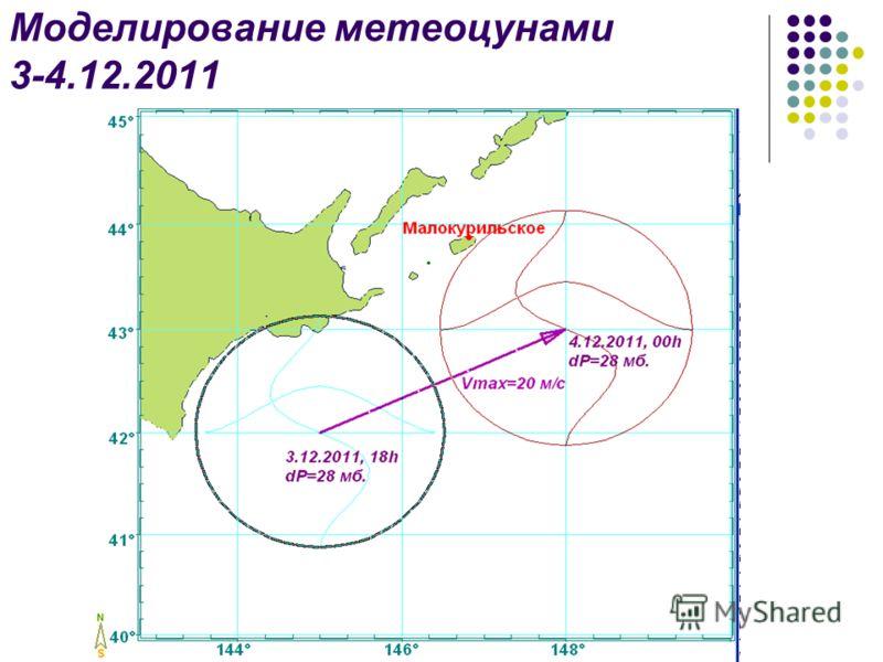 Моделирование метеоцунами 3-4.12.2011