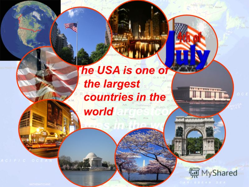The USA is one of the largest countries in the world largestcoun tries in the world