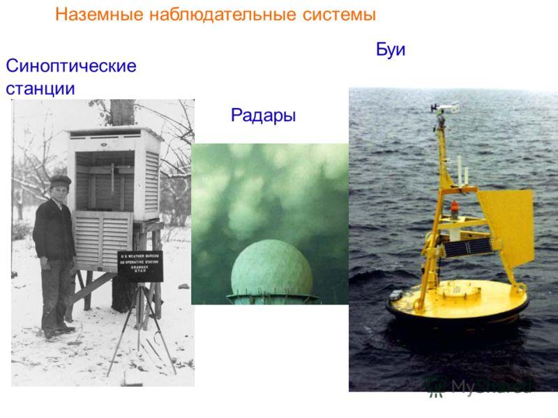 Наземные наблюдательные системы Синоптические станции Радары Буи