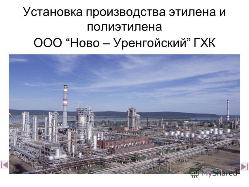 Установка производства этилена и полиэтилена ООО Ново – Уренгойский ГХК
