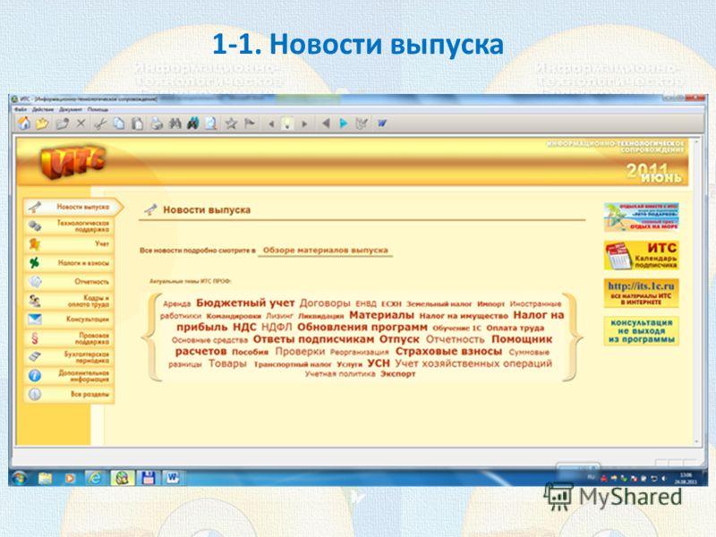 1-1. Новости выпуска