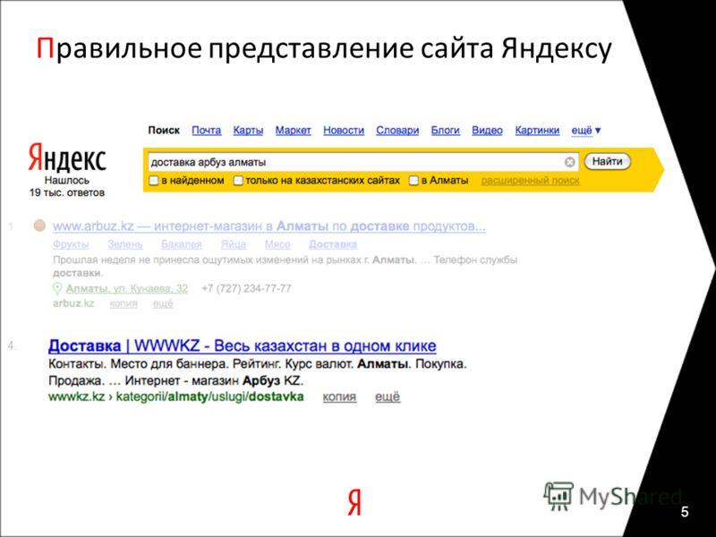 Правильное представление сайта Яндексу 5 4.