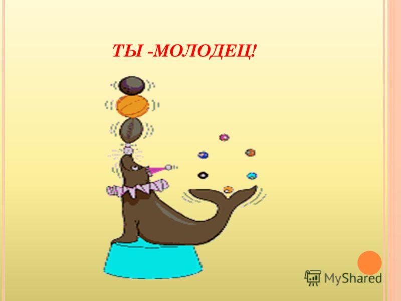 ТЫ -МОЛОДЕЦ!