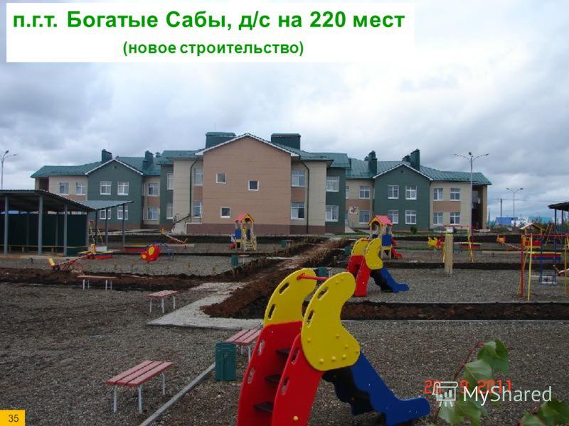 п.г.т. Богатые Сабы, д/с на 220 мест (новое строительство) 35