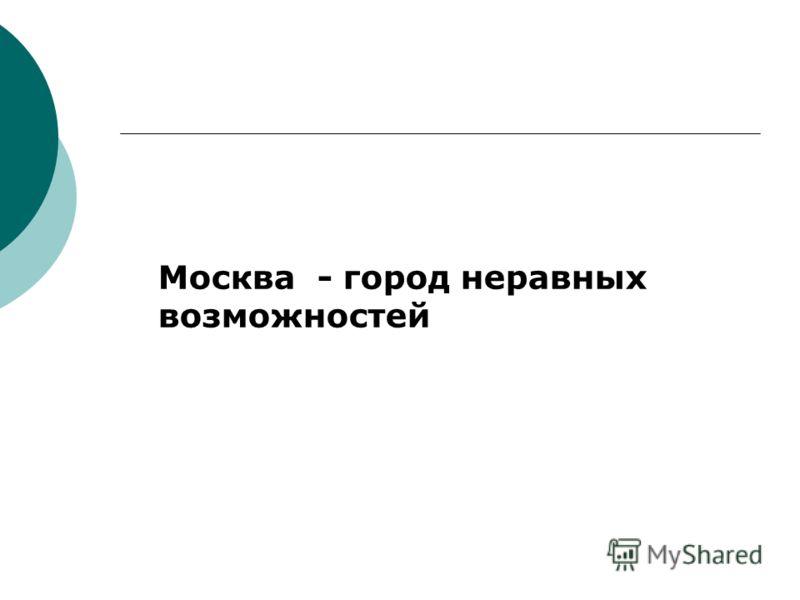 Москва - город неравных возможностей