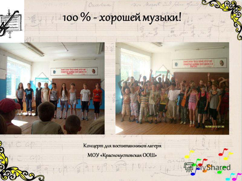 100 % - хорошей музыки! Концерт для воспитанников лагеря МОУ «Краснокустовская ООШ»