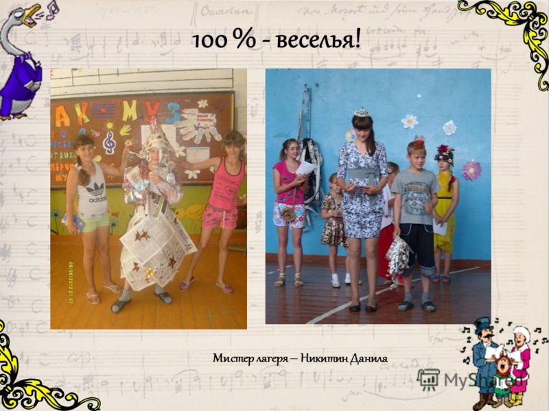 100 % - веселья! Мистер лагеря – Никитин Данила