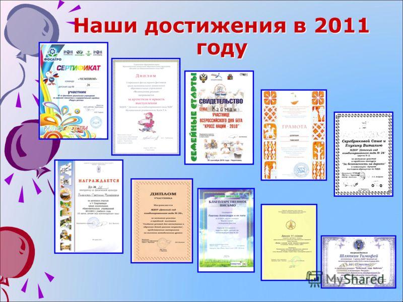 Наши достижения в 2011 году
