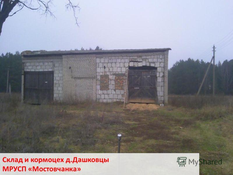Склад и кормоцех д.Дашковцы МРУСП «Мостовчанка»