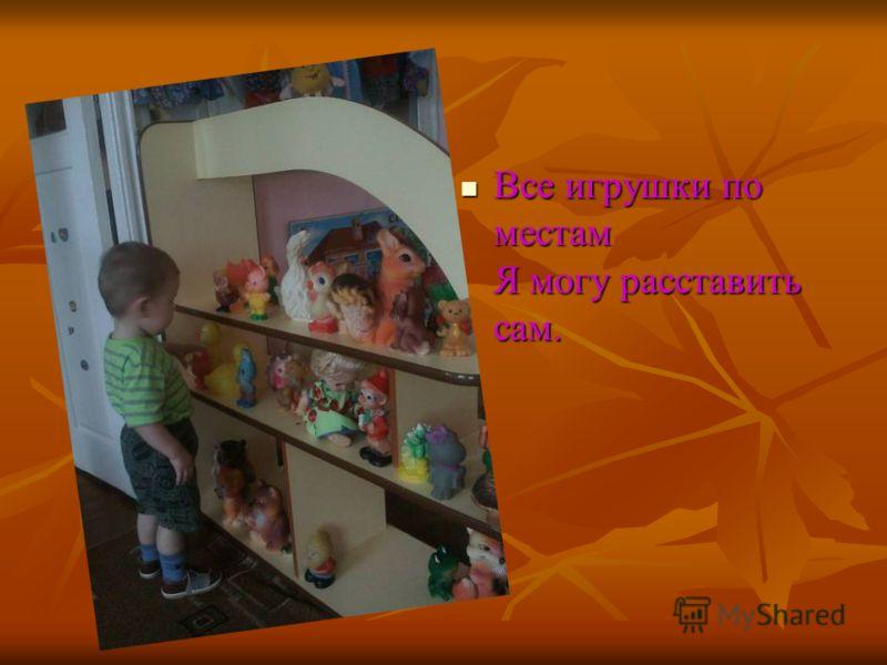 Все игрушки по местам Я могу расставить сам.