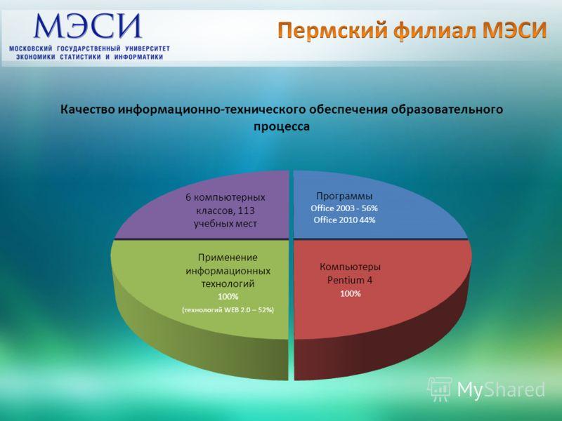Качество информационно-технического обеспечения образовательного процесса