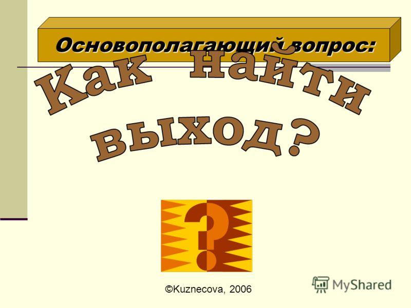Участники проекта - ученики 8 класса Тип проекта - исследовательский Предмет - АЛГЕБРА ©Kuznecova, 2006