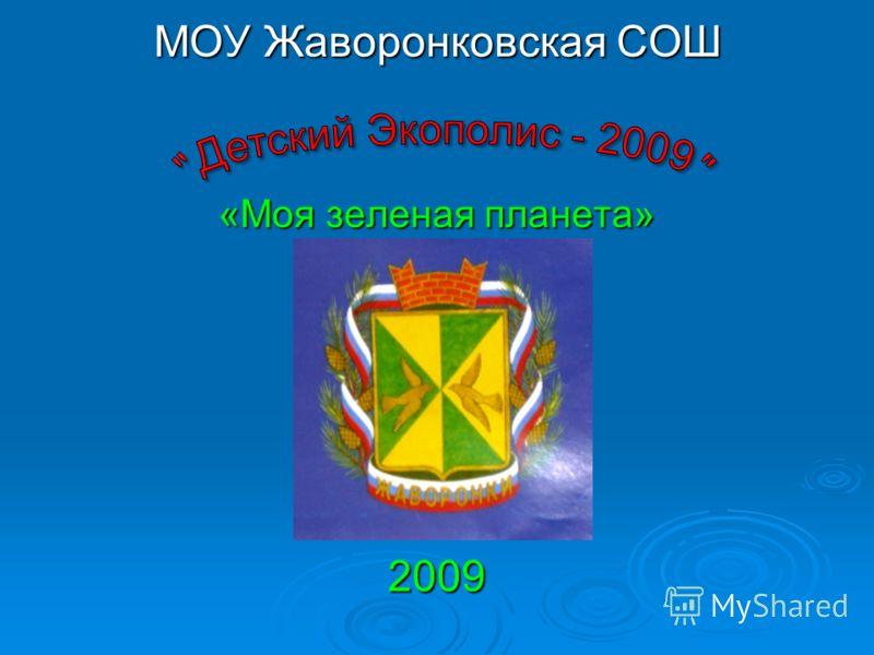 МОУ Жаворонковская СОШ «Моя зеленая планета» 2009
