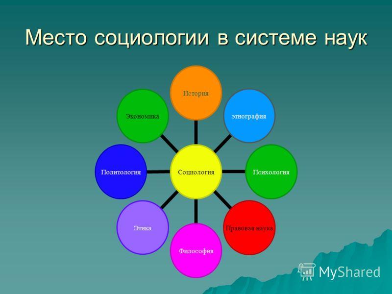 Место социологии в системе наук