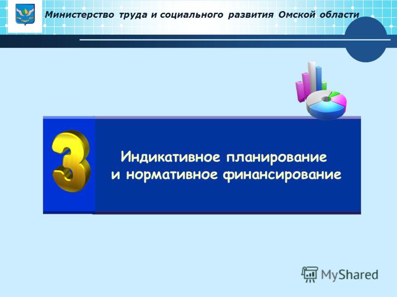 Министерство труда и социального развития Омской области Индикативное планирование и нормативное финансирование
