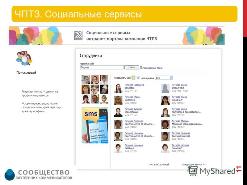 ЧПТЗ. Социальные сервисы 11