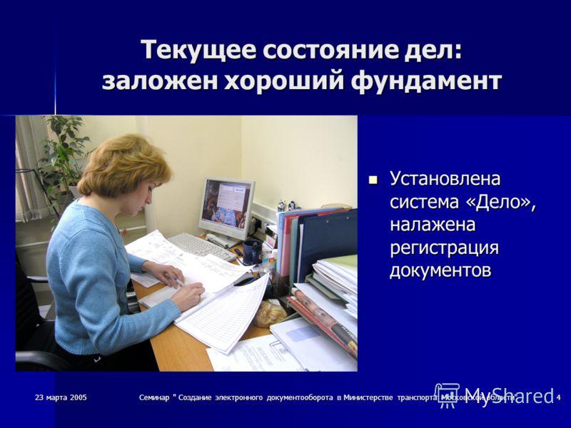 23 марта 2005Семинар