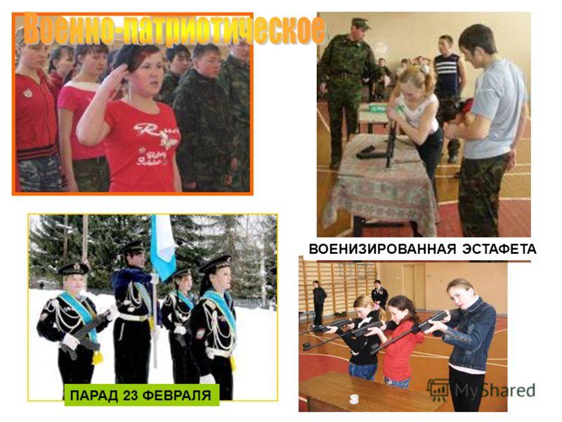 ВОЕНИЗИРОВАННАЯ ЭСТАФЕТА ПАРАД 23 ФЕВРАЛЯ