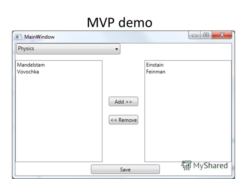 MVP demo