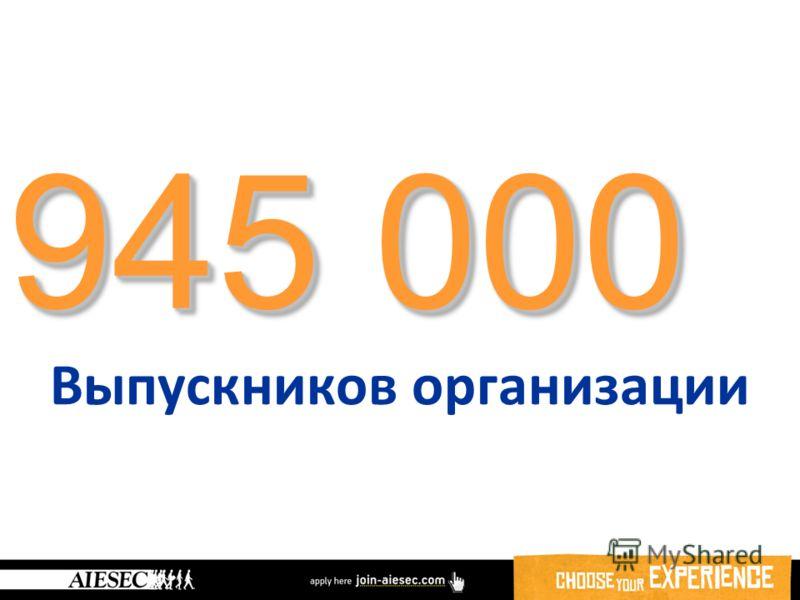945 000 Выпускников организации