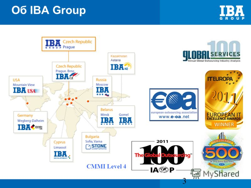 Об IBA Group http://www.ibagroup.eu 3 CMMI Level 4