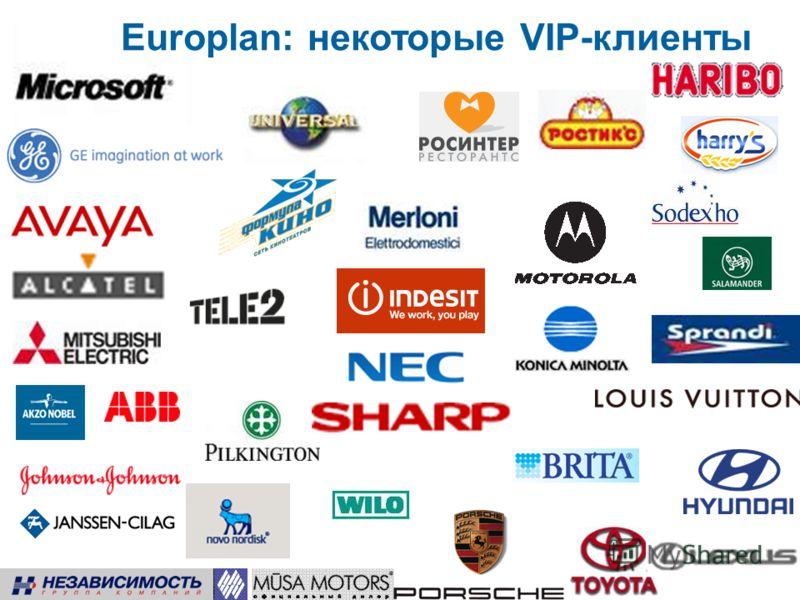 Europlan: некоторые VIP-клиенты