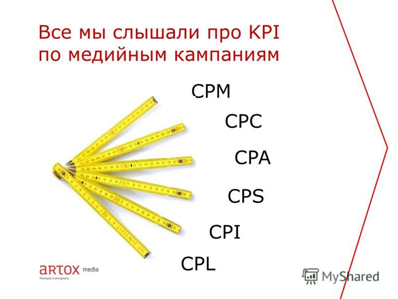 CPC Все мы слышали про KPI по медийным кампаниям CPM CPA CPS CPI CPL