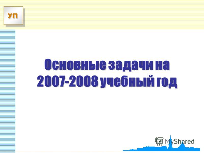 УП Основные задачи на 2007-2008 учебный год