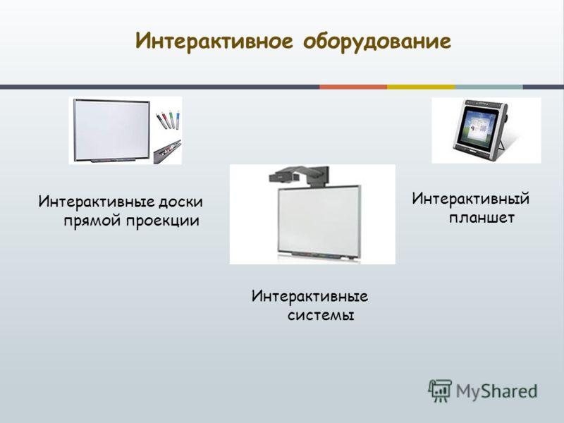 Интерактивное оборудование Интерактивные системы Интерактивные доски прямой проекции Интерактивный планшет