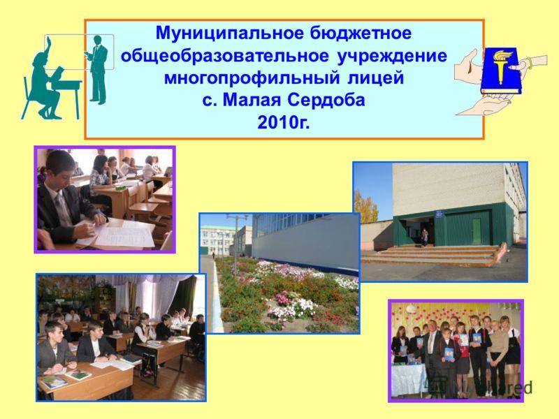 Муниципальное бюджетное общеобразовательное учреждение многопрофильный лицей с. Малая Сердоба 2010г.