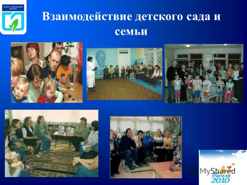 Взаимодействие детского сада и семьи